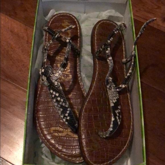 6c0eea4812c7 Sam Edelman Gigi Thong Snake Sandals 8.5 NWB